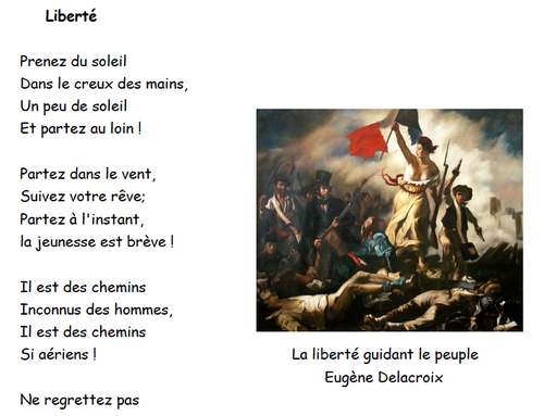 La liberté en poésie