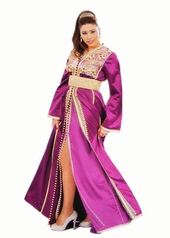 Takchita-2015-de haute couture en vente en ligne pas cher et réaliser sur mesure violetTAK-S875