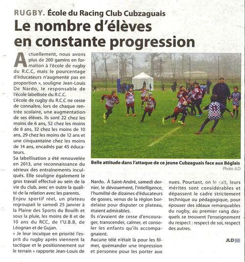 ARTICLE HTE GIRONDE DU 30/01/2015