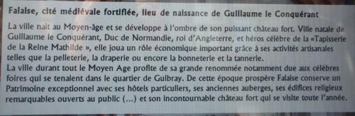 Un voyage destination Falaise  dans la Calvados