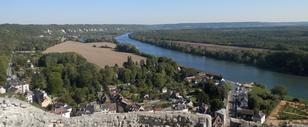 Vue du donjon sur les boucles de la Seine