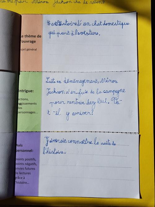 Une fiche de lecture en triptyque pour apprendre à construire sa pensée et ses futurs écrits