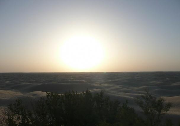 à 4h du matin, pour prendre le lever de soleil sur cette superbe immensité blanche