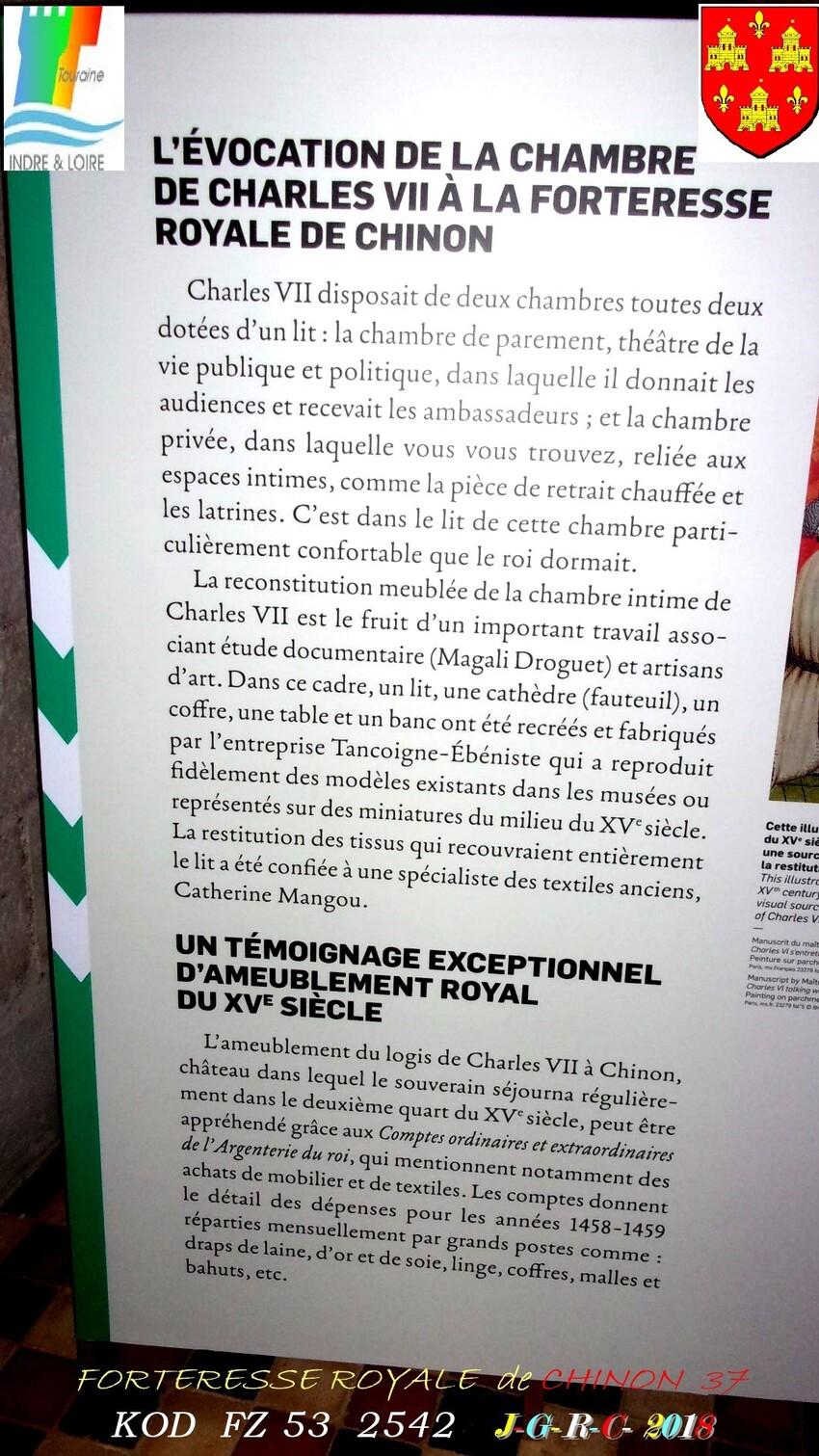 CHÂTEAU  FORTERESSE  DE  CHINON  37    3/3  -  6/10      D   29/05/2019