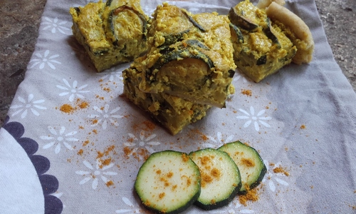 Quiche Courgette Curry {Vegan}