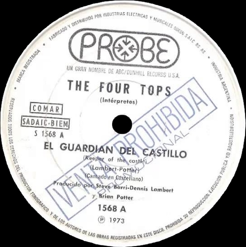 """The Four Tops : Album """" Keeper Of The Castle """" ABC Dunhill Records DSX-50129 [ US ]"""