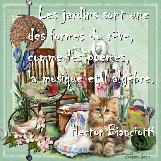 citation illustréée jardin