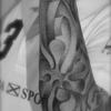 Sky de l'art du point,  dotwork tattoo