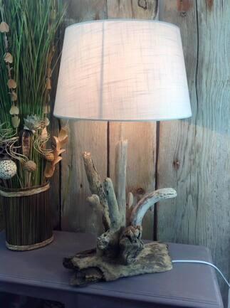 Nouvelle lampe en bois flotté avril 2018