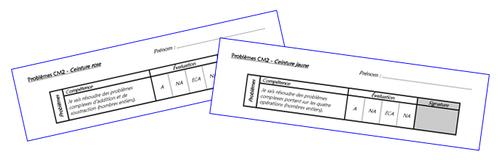 Ceintures de problèmes CM2