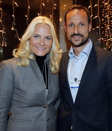 Mette Marit et Haakon à Davos