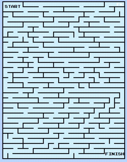 """27 janvier 2017 : labyrinthe digital numéro deux, """"Water""""."""