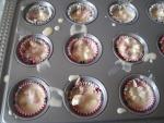 Petit cakes ronds au chèvre et aux lardons
