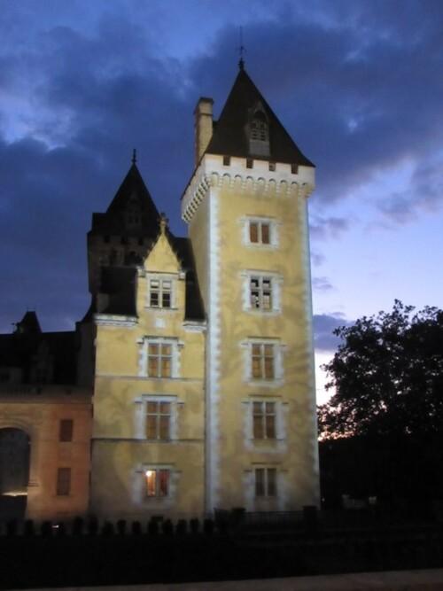 Les illuminations du château de Pau
