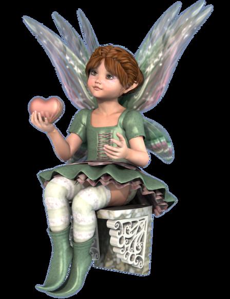Tube de fée au cœur (image-poser)