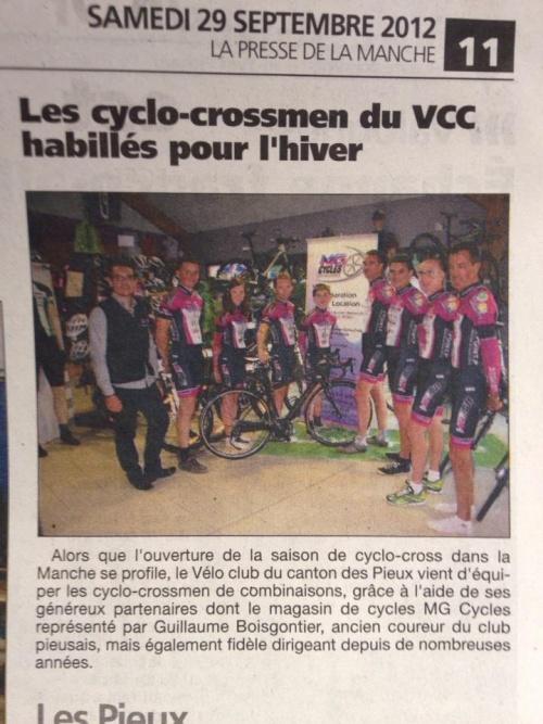 Presentation de l'équipe de cyclo cross