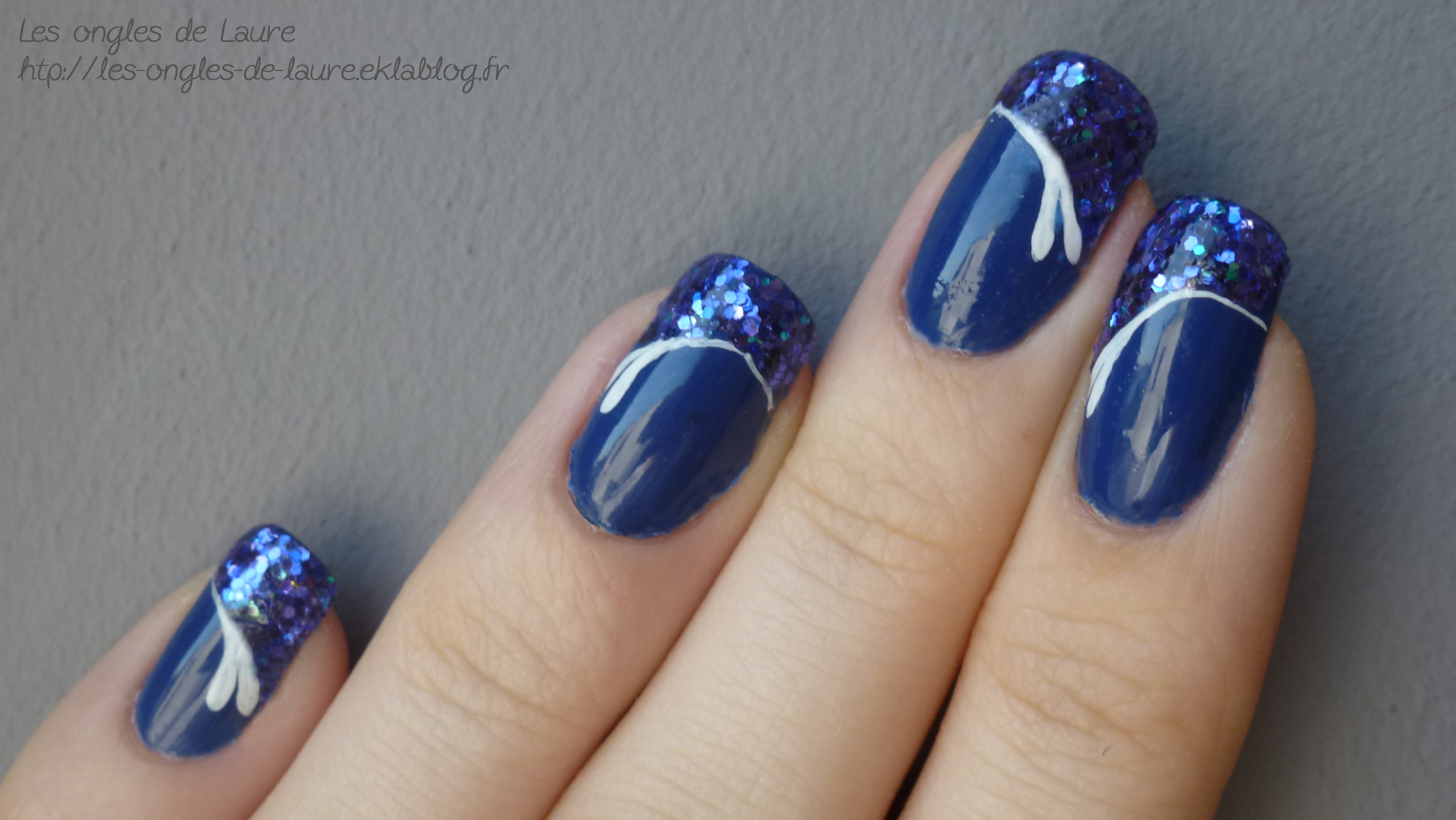 Gut bekannt Nail Art bleu pailleté - Les ongles de Laure - Blog Nail Art AT98