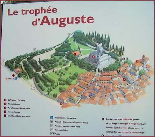 Le trophée des Alpes à la Turbie (Alpes-Maritimes)