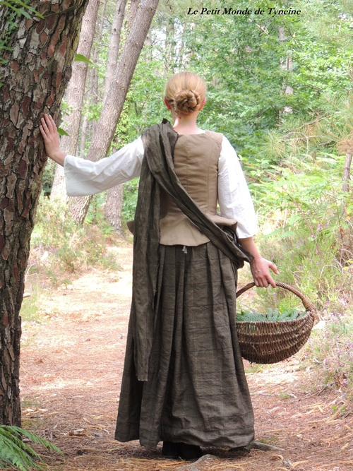"Costume Outlander ""Claire Fraser - Castle Leoch"" - Outlander's Claire fraser dress from Leoch"