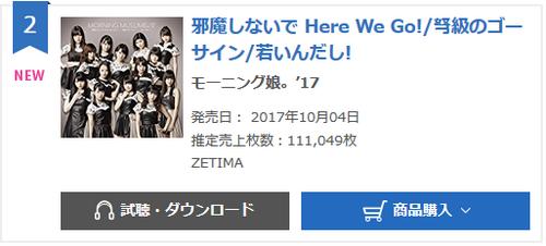 Première semaine de vente du 64ème single