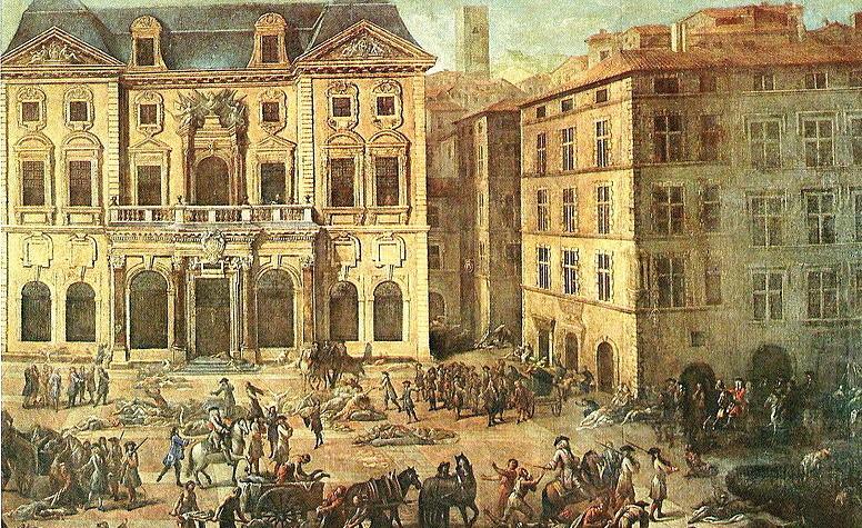 Marseille scènes de peste en 1720 par Michel Serre (1658-1733)