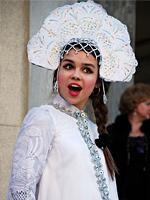 FLes costumes de fêtes à Mardi Gras, la Russie