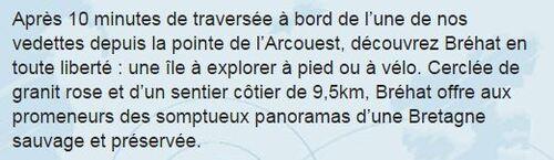 ** VISITE A l'ile de BREHAT: Côtes D'ARMOR ;22**