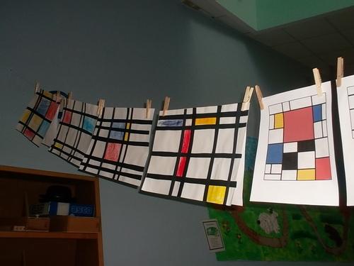 Mondrian et le quadrilage