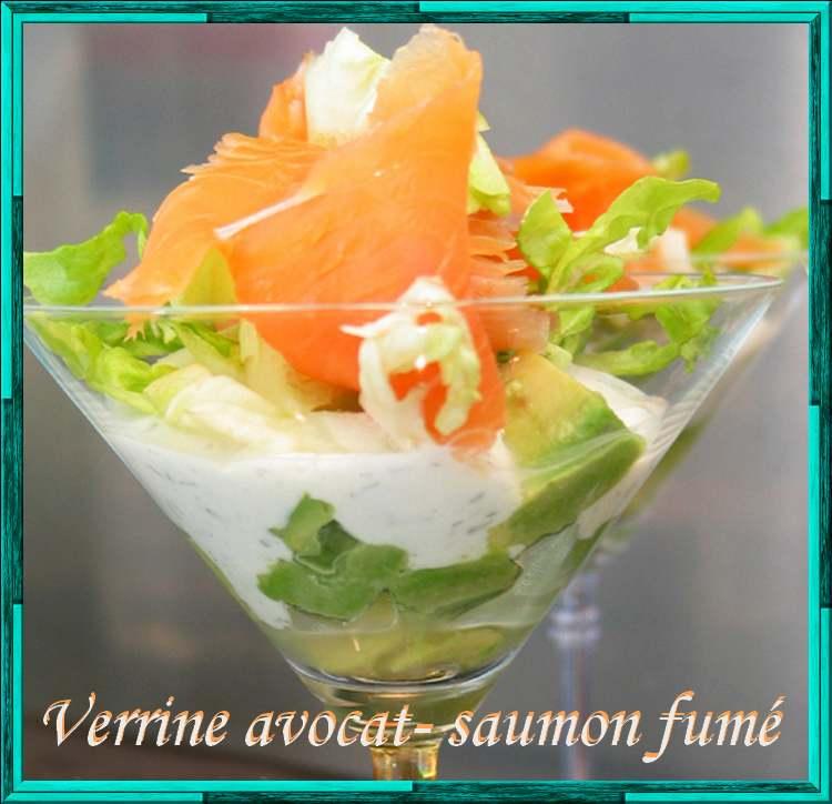 Recette de cuisine : Verrine d'avocat et saumon fumé