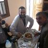 Messieurs :  Mahfoudh, Mohamed et Slimane autour d'un plat traditionnel RFIS offert par une collègu