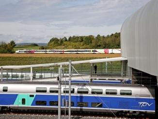 Une gare de la ligne à grande vitesse Rhin Rhône