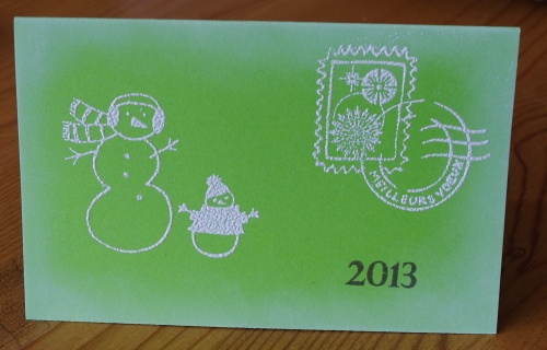 Les deux dernières cartes de bonne année...