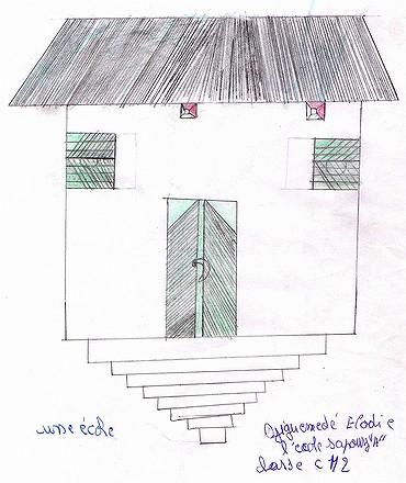 Des dessins et des photos de l'école Sapouy A
