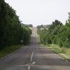 Derniers kilomètres en ligne droite sur le plateau du Morvan.