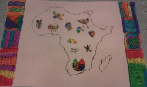 Batik africain, oeuvre commune