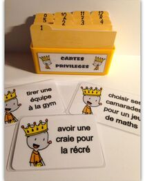 Cartes privilèges version Ludo