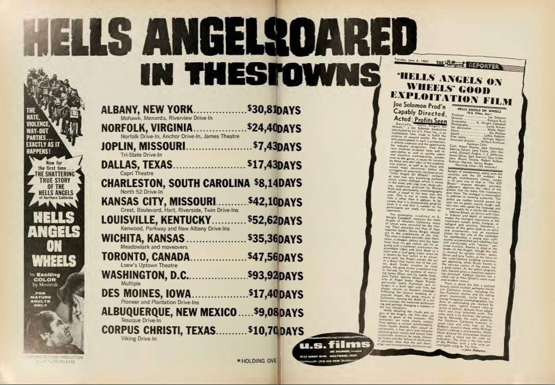 BOX OFFICE USA DU 5 JUIN 1967 AU 11 JUIN 1967