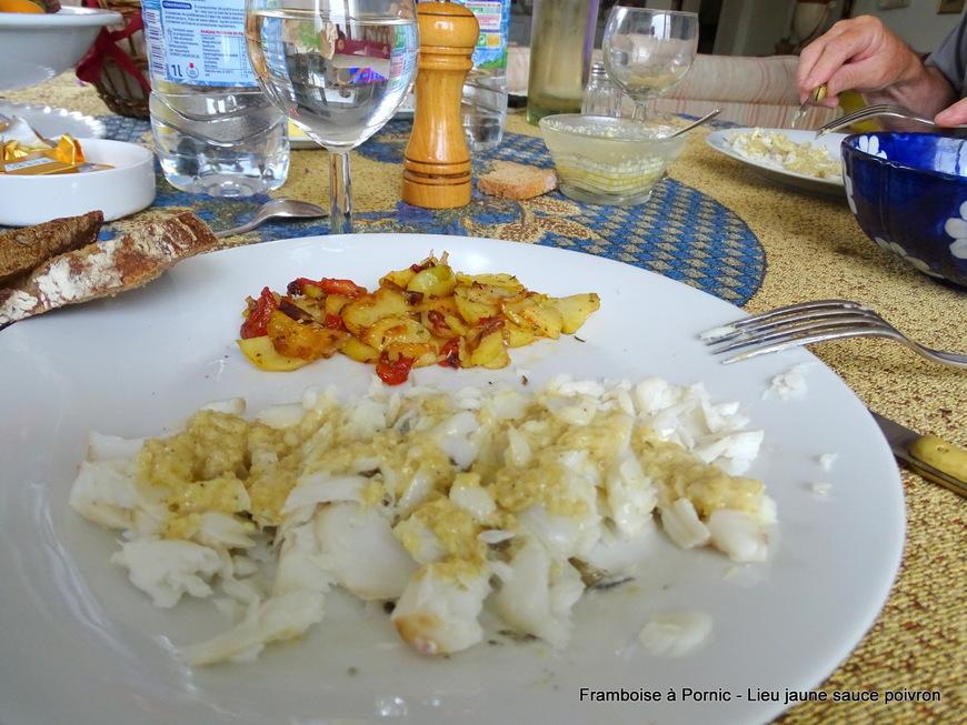 Lieu jaune sauce poivron curry