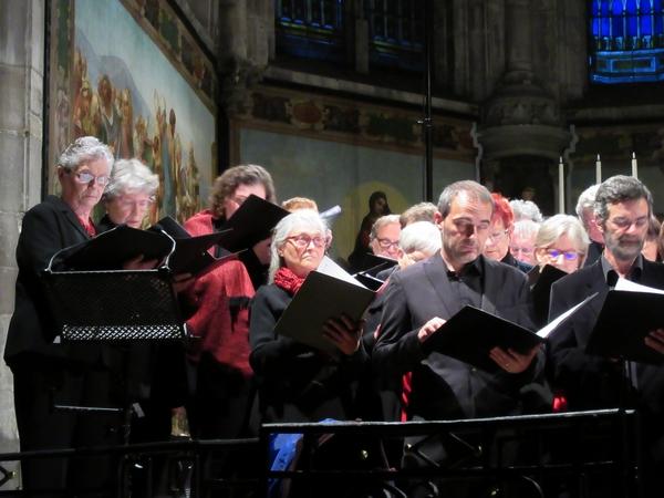 Le Chœur de Haute Côte d'Or s'est produit, avec un grand succès, dans l'église Saint-Nicolas de Châtillon sur Seine