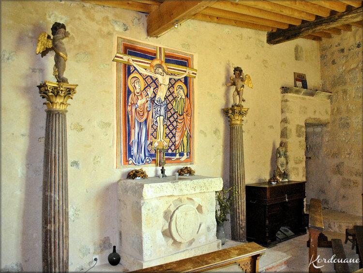 Photos de la chapelle du château médiéval de Langoiran