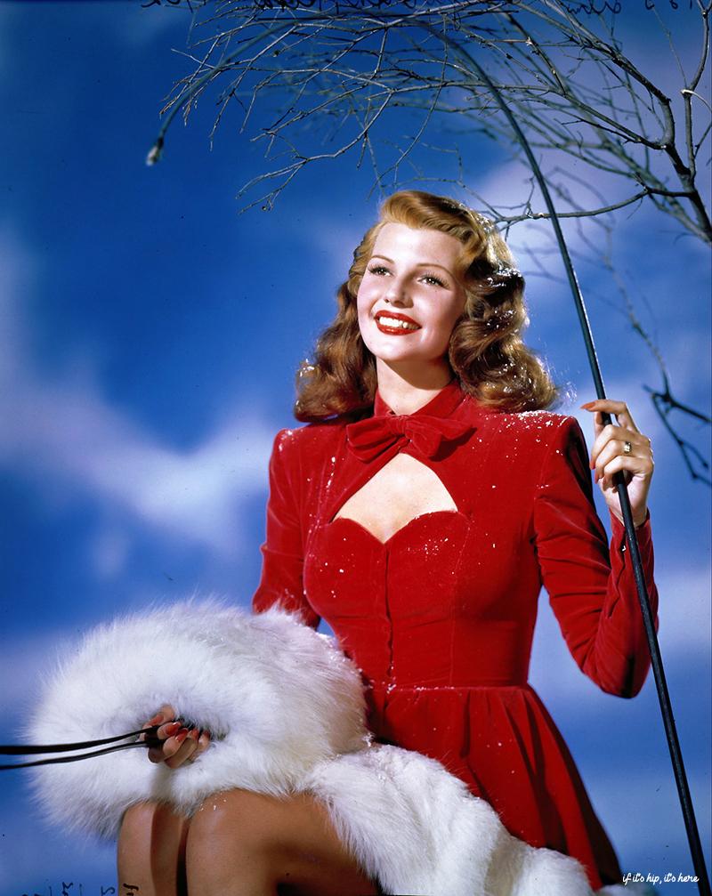 Photos de célébrités colorées de Noël Vintage Hollywood