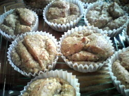 muffins noisettes/amandes tout simple {Vegan}