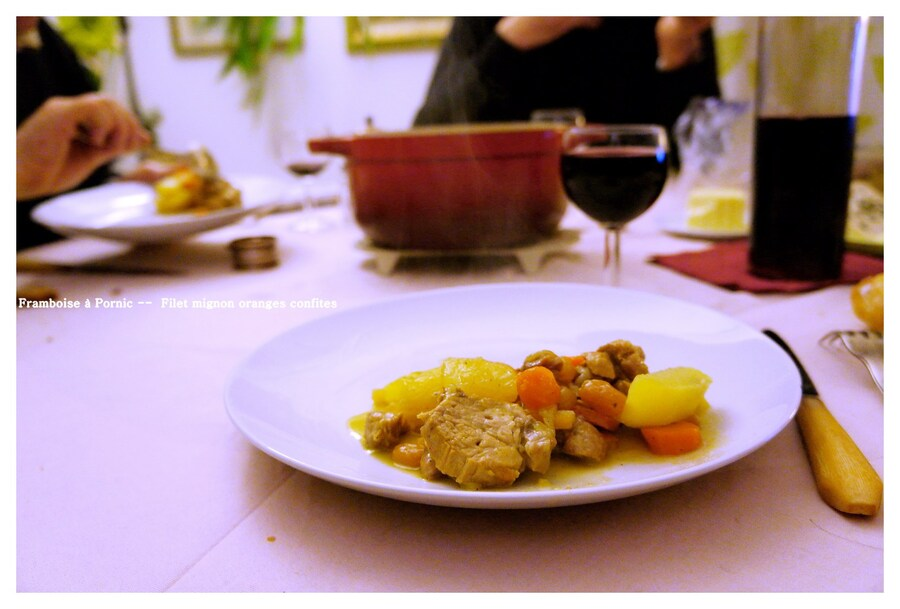 Filet mignon de Porc aux écorces d'orange