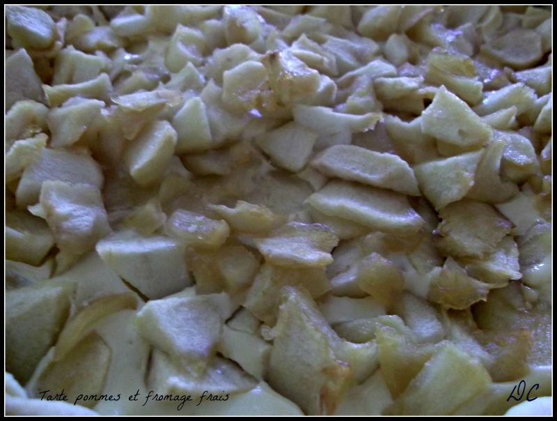 Tarte aux pommes et fromage frais