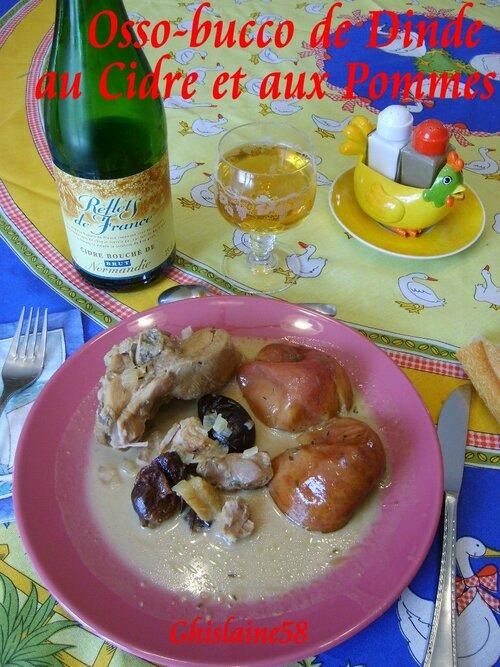 Osso-bucco de dinde au cidre et pommes