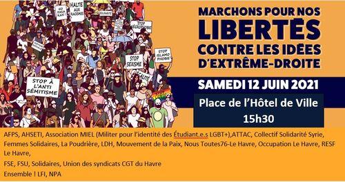 Le 12 juin : mobilisons pour les libertés et contre les idées d'extrême-droite !