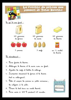 Recette - Le gâteau aux pommes de Tatie Rosette