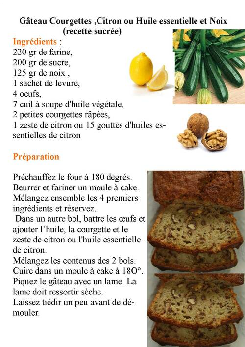 gâteau aux courgettes, citron et noix:hummm!!!
