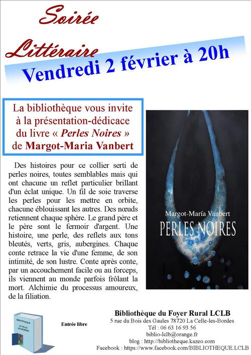 Perles noires de Margot Vanbert