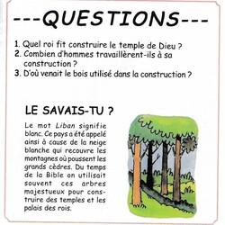 Le roi Salomon construit le temple